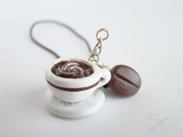 Coffee Cell Phone Charm by xcalixax