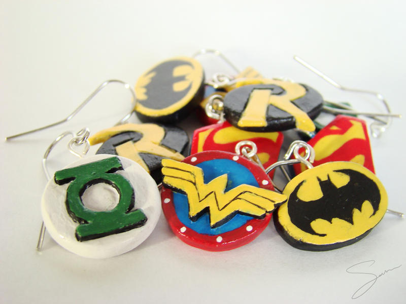 Superhero Earring Set by xcalixax