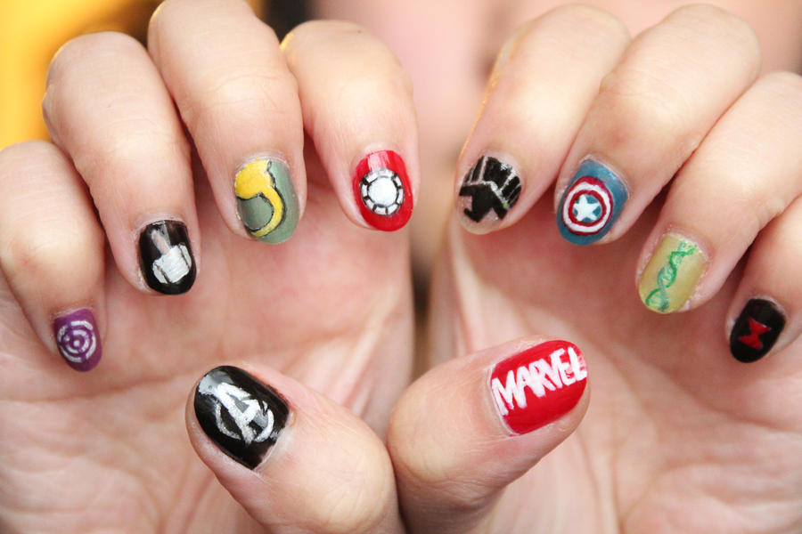 Avengers Nails by xcalixax on DeviantArt
