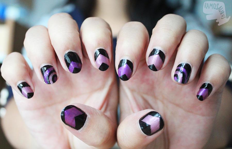 Hawkeye nails by xcalixax