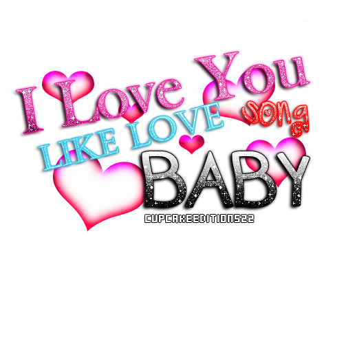 I Love You Like Song PNG Text By CupcakeEditions22
