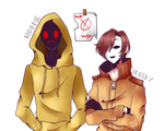 Hoodie and Masky [Speed paint]