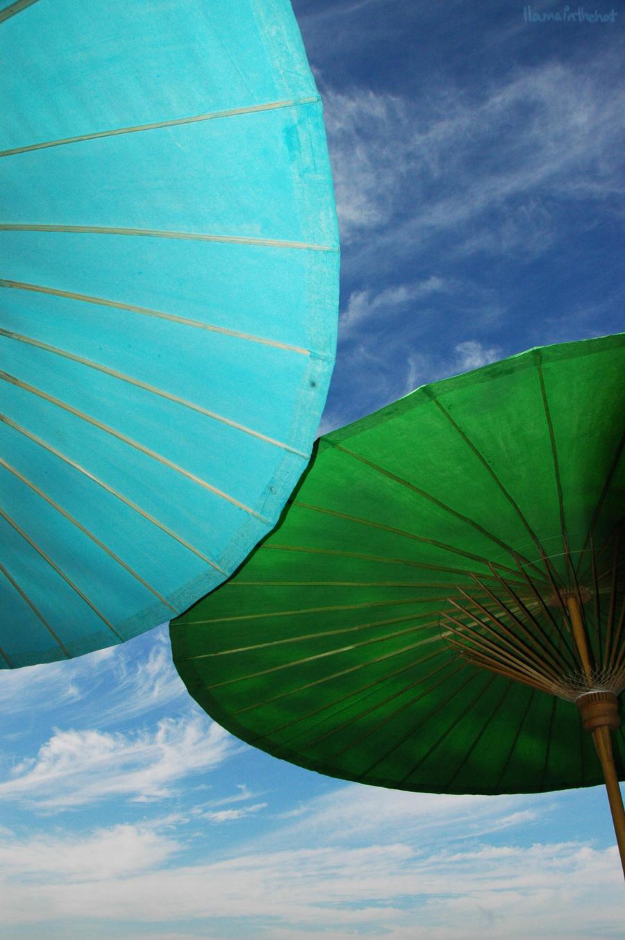 Umbrellas by llama-in-the-hat
