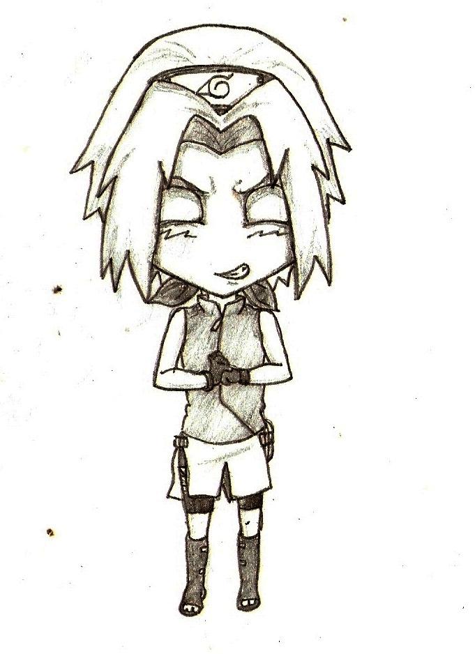 Sakura Chibi Drawing Chibi Kakashi Drawings Sakura