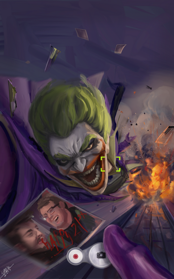 Birthday wish from The Joker by smrrfette