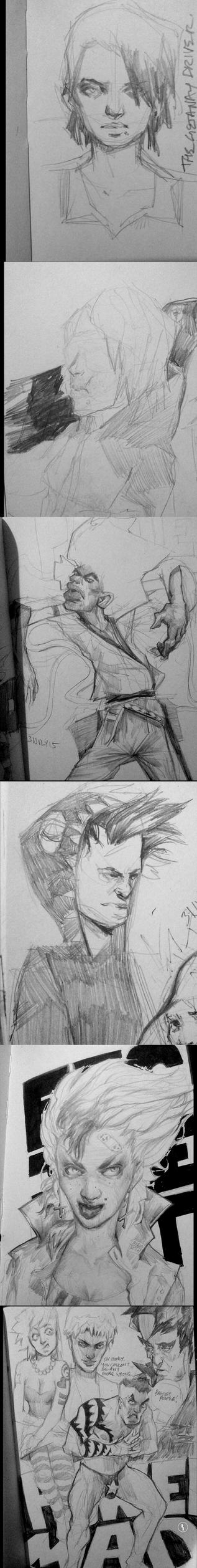 (little) sketch dump 01 by smrrfette