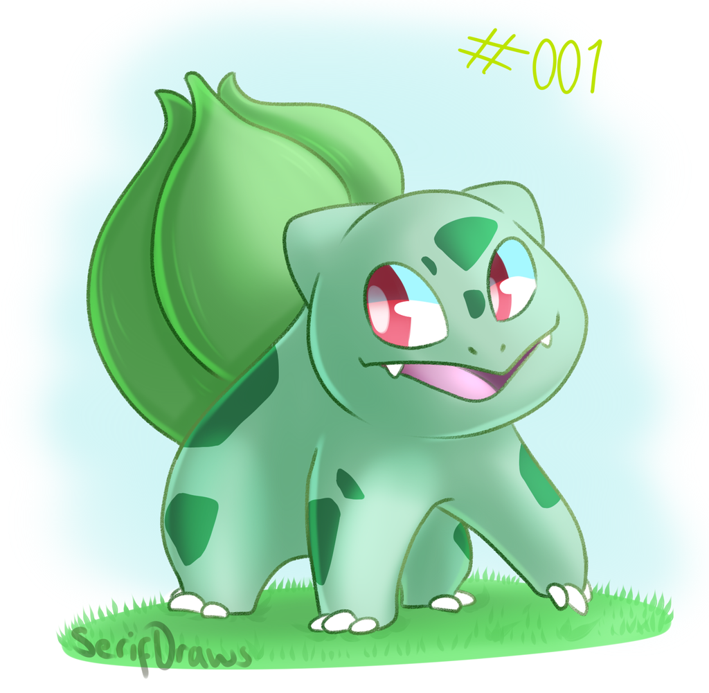 pokemon drawing day 1 bulbasaur by serifdraws on deviantart