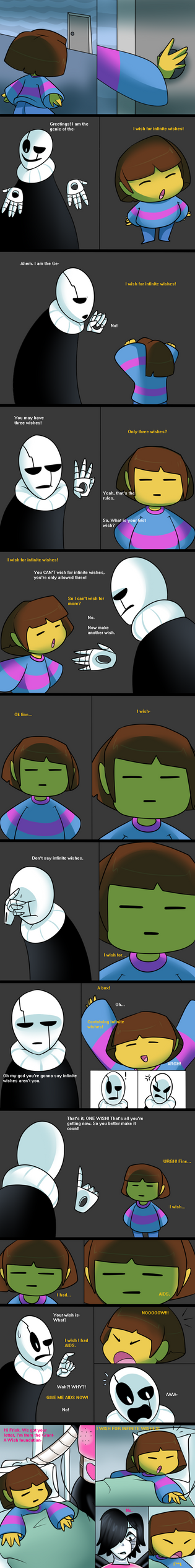 Undertale - The Wish Comic by SerifDraws