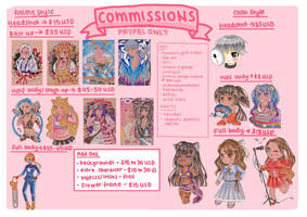 2021 COMMISSION SHEET (OPEN) by maybabii