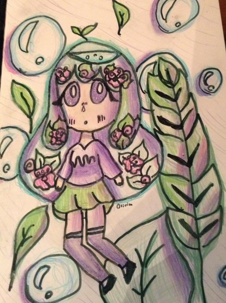 A plant and water girl by Dreamer2127