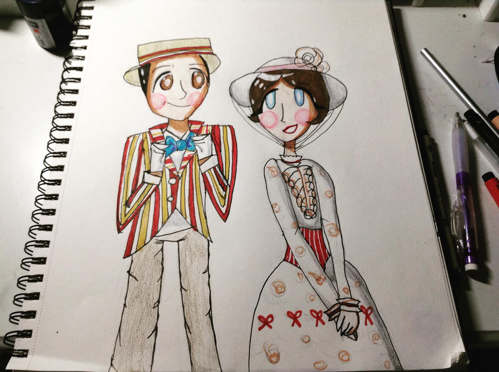 Mary Poppins and Bert by Dreamer2127