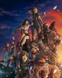 Final Fantasy VII Twilight Over Gaia by sXeven