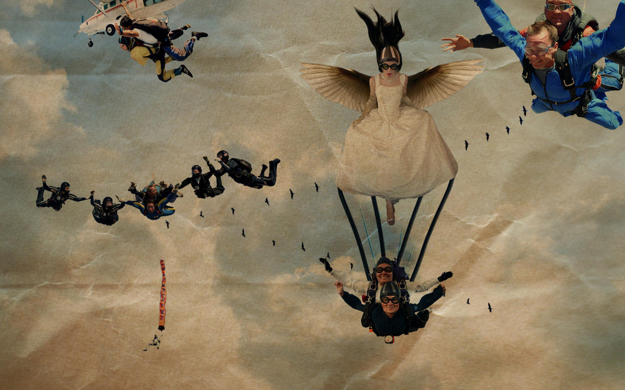 ..the angel parachute....