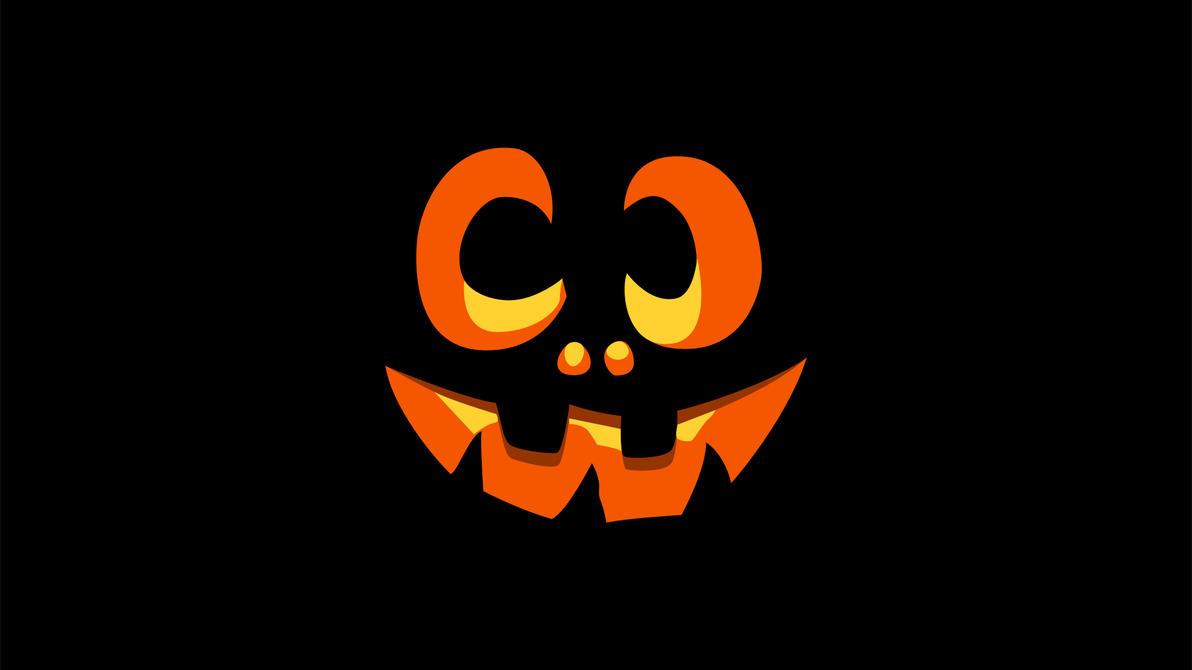 Pumpkin face glow by xxdigipxx