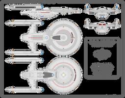 Merced-Class Starship Schematic by Rekkert
