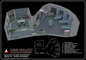 USS Galaxy Sickbay Cutaway by Rekkert
