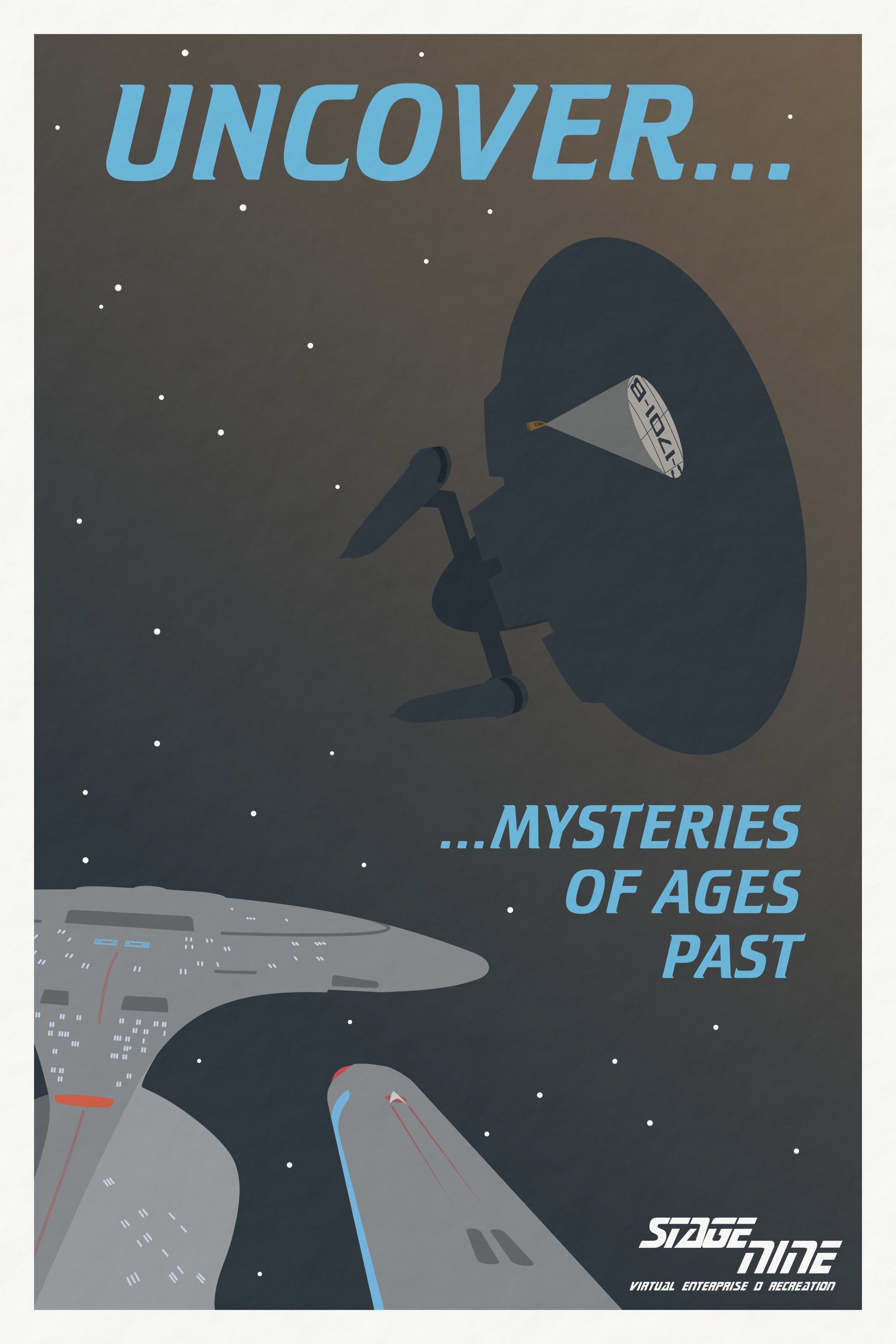 Stage 9 'Uncover' Poster by Rekkert