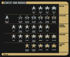 Alternate 24th Century Starfleet Rank Insignias by Rekkert