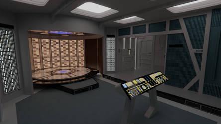 USS Galaxy Transporter Room by Rekkert