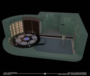 USS Enterprise-D Transporter Room Cutaway