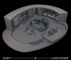 USS Galaxy Bridge - 2376 Cutaway by Rekkert