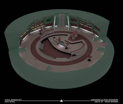 USS Shockley Bridge Cutaway