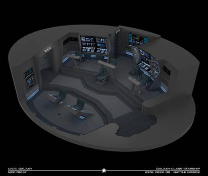 USS Galaxy Battle Bridge - 2376 Cutaway