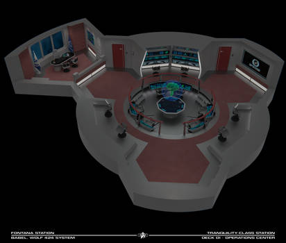 Fontana Station Operations Center - Cutaway