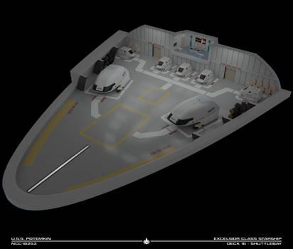 USS Potemkin Shuttlebay Cutaway