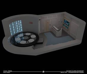 USS Tioga Transporter Room Cutaway