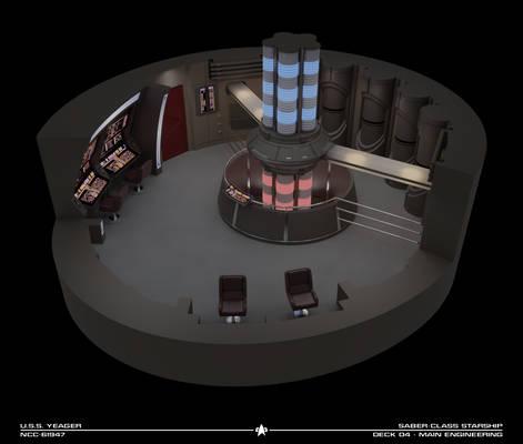USS Yeager Engineering Cutaway