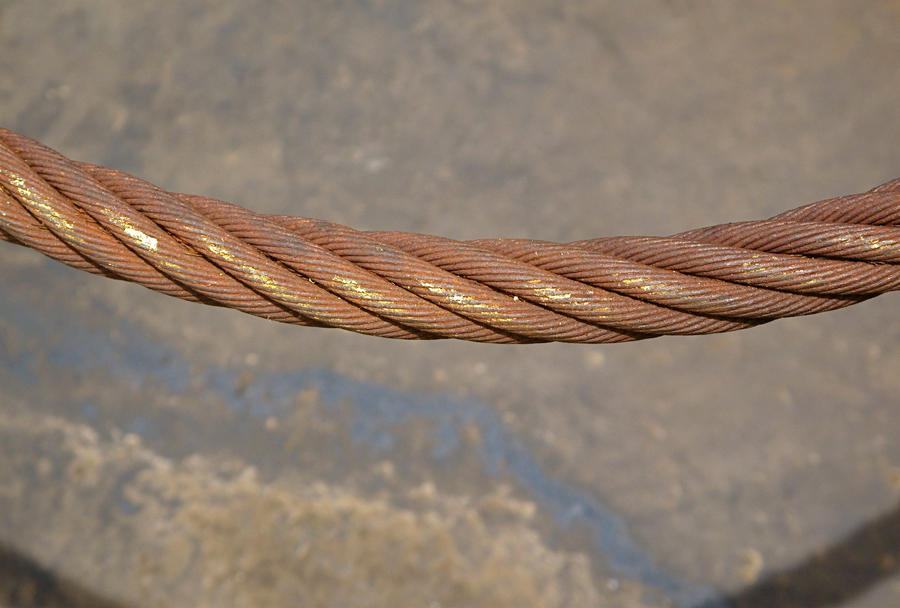 Up close wire Rope