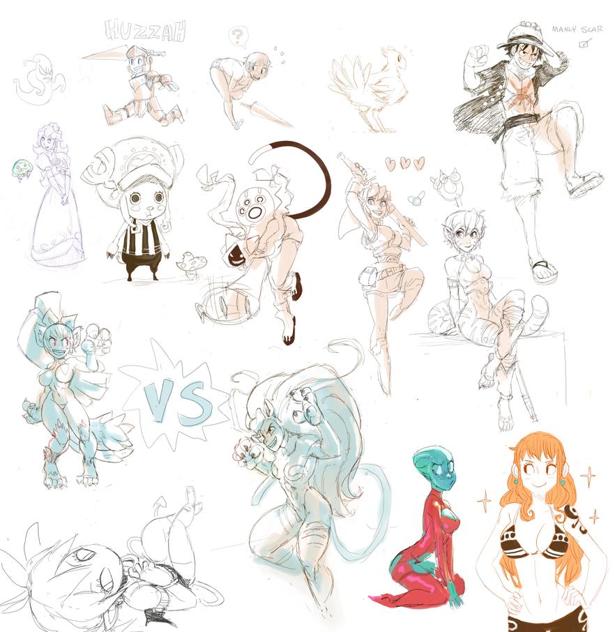 Fan Doodles by GarrettART