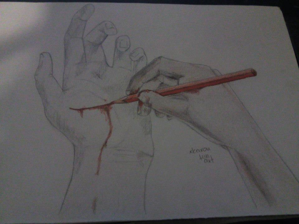Hands. by xkaroufunart