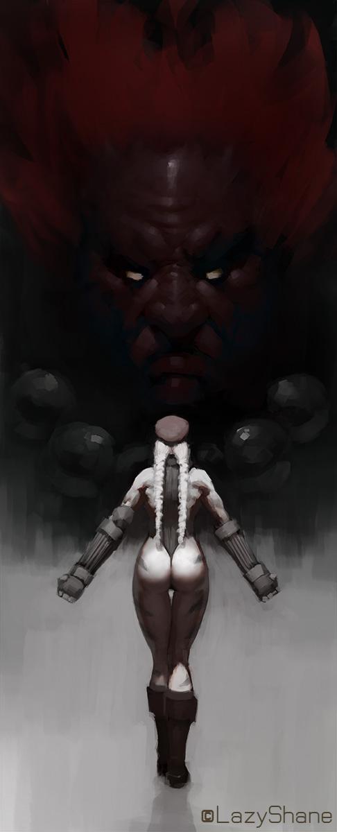 Cammy Akuma Duel by LazyShane