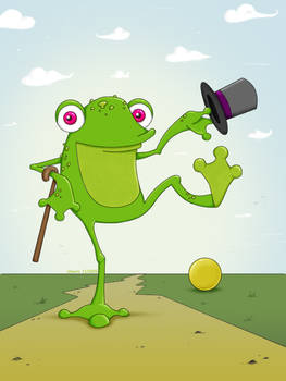 the frog...
