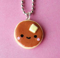 Kawaii Pancake Necklace by AsianBunni