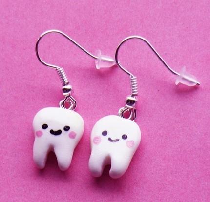 kawaii teeth earrings by asianbunni on deviantart
