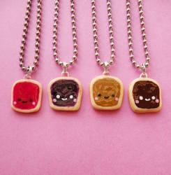 Kawaii Toast Necklace Set by AsianBunni