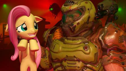 Doom x Mlp by darkaleshi