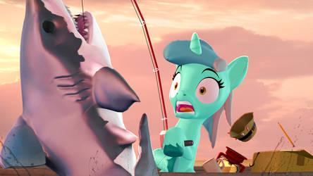 lyra goes fishing by darkaleshi