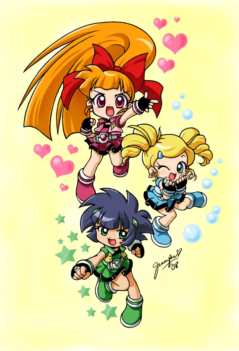 PowerPuff Girls/ PowerPuff Girlz Z Blossom_Bubbles_and_Buttercup_by_chibi_jen_hen