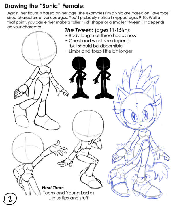 Drawing Sonic Females: 02 Teen by chibi-jen-hen