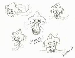 Jirachi Sketches by chibi-jen-hen
