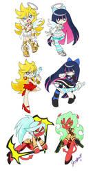 Panty and Stocking Sticker Set by chibi-jen-hen