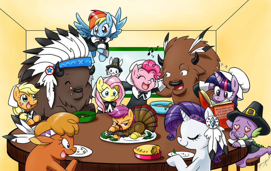 A Very Pony Thanksgiving by chibi-jen-hen