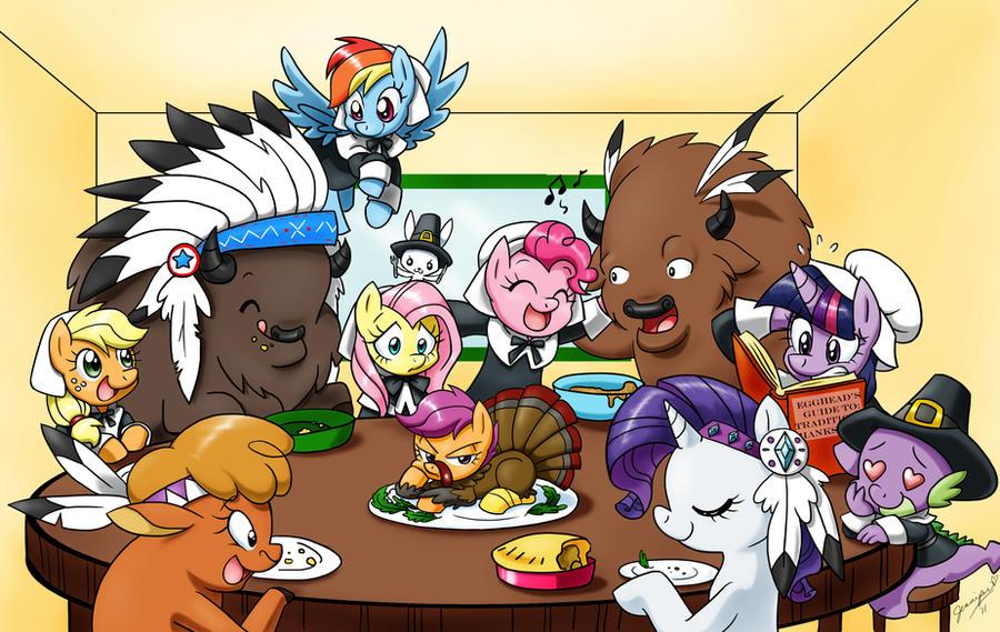 A Very Pony Thanksgiving by chibi-jen-hen
