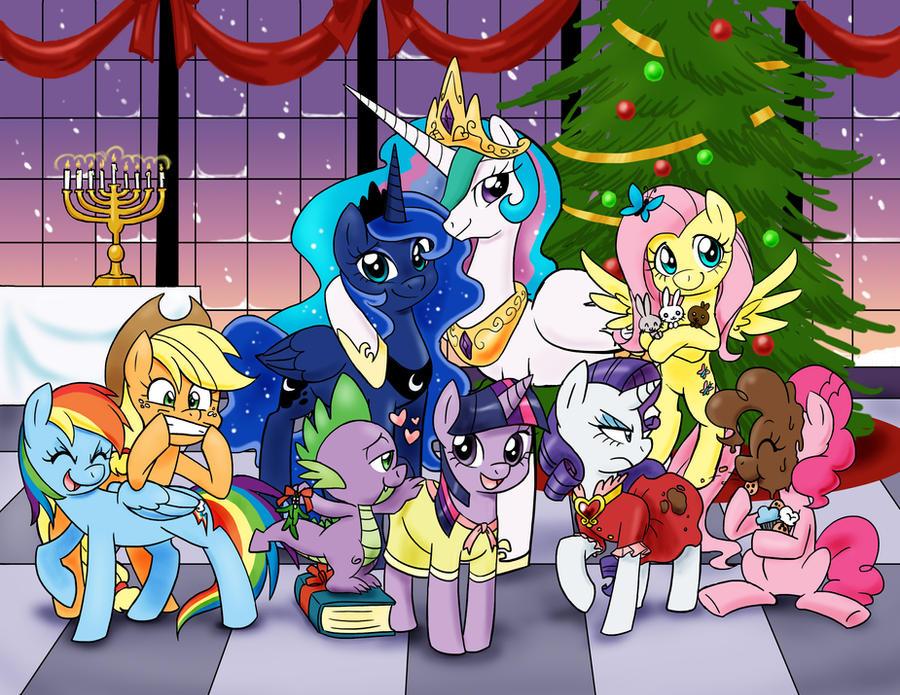 A Very Pony Holiday by chibi-jen-hen
