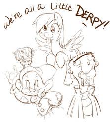We're all a little Derpy! by chibi-jen-hen