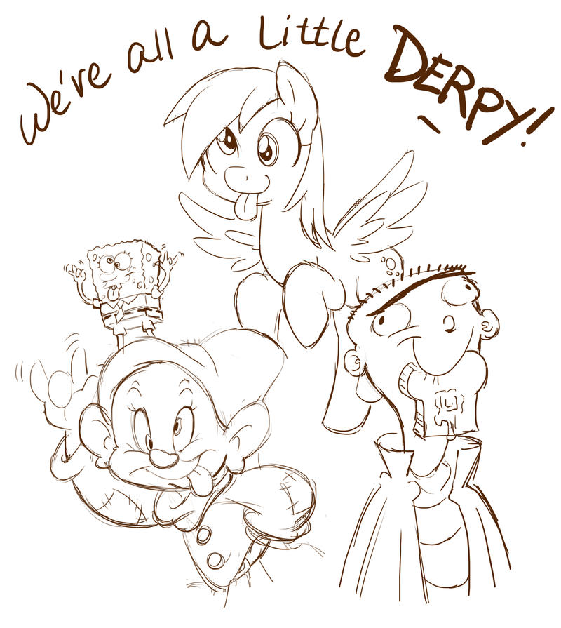 We're all a little Derpy! by chibi-jen-hen